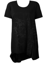 Rundholz Geometric Print Elongated T Shirt Women Cotton M Black