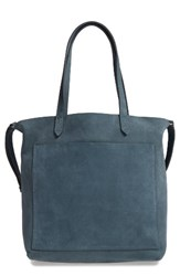 Madewell Medium Leather Transport Tote Green Midnight Spruce