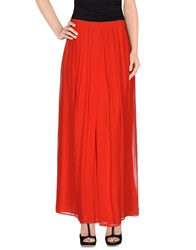 Barneys New York Long Skirts Red