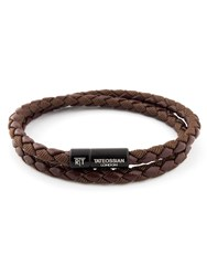 Tateossian Chelsea Bracelet Brown