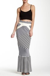 Nuvula Harnessed Striped Maxi Skirt Multi