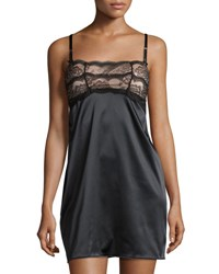 Chantelle Presage Satin Chemise Black