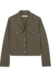 Kenzo Cotton Gabardine Jacket Army Green
