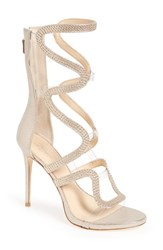 Imagine By Vince Camuto Women's 'Dash' Cage Sandal Soft Gold Satin