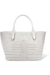 Anya Hindmarch Neeson Woven Leather Tote Off White