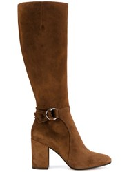 Gianvito Rossi Side Buckle Boots Brown
