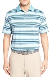 Peter Millar Men's Plaza Stripe Jersey Polo