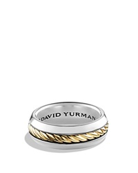 David Yurman Cable Classic Ring With 18K Gold Silver Gold
