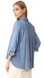 Generation Love Kris Shirt With Pleated Back Blue