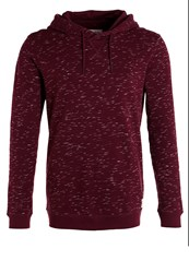 Tom Tailor Denim Hoodie Dark Topaz Red Melange Mottled Bordeaux