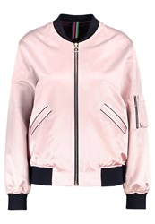 Paul Smith Ps By Bomber Jacket Pink Rose