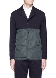 Tim Coppens Contrast Panel Coach Jacket Blue Green