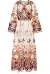 I.D. Sarrieri Embroidered Tulle Nightdress Beige