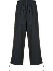 Ymc Pinstriped Cropped Trousers 60