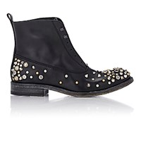 Sartore Women's Studded Laceless Boots Black Blue Black Blue