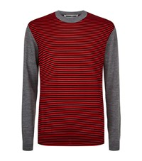 Mcq By Alexander Mcqueen Striped Knit Jumper Male Red