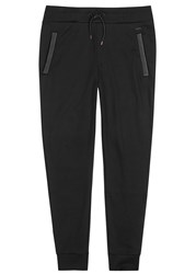 Hugo Drontier Faux Leather Trimmed Jogging Trousers
