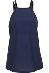 Lndr Synchro Mesh And Stretch Knit Tank Navy