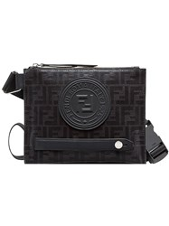 Fendi Small Monogram Messenger Bag Black