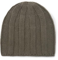 Brunello Cucinelli Cable Knit Cashmere Beanie Green