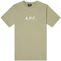 A.P.C. Stamp Logo Tee End. Exclusive Green