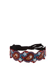Andrew Gn Floral Embroidered Belt Multi