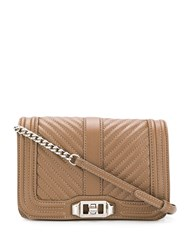 Rebecca Minkoff Mini Love Cross Body Bag Brown