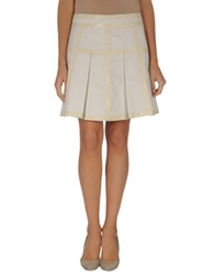 Frankie Morello Knee Length Skirts Light Grey