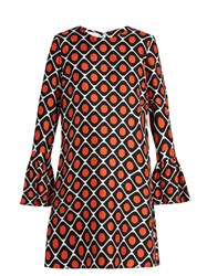 La Doublej Editions The Pomodorini Print Happy Wrist Dress Red Multi