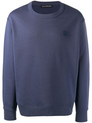 Acne Studios Fairview Face Sweatshirt Blue