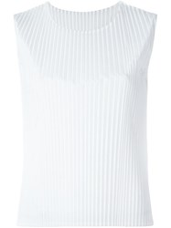 Sofie D'hoore 'Baltimore' Knife Pleated Top White