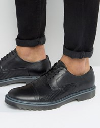 Hugo By Boss Pure Snake Toe Cap Derby Shoes Black
