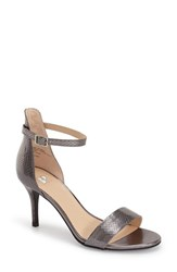 Women's Bp. 'Luminate' Open Toe Dress Sandal Pewter Faux Snake Print