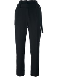 Ann Demeulemeester Waist Strap Cropped Trousers Black