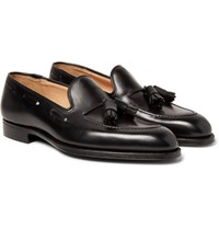 George Cleverley Adrian Leather Tasselled Loafers Black