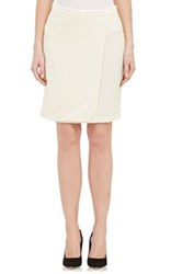 Barneys New York Women's Lace Wrap Skirt Ivory