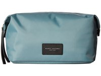 Marc Jacobs Nylon Biker Cosmetics Large Landscape Pouch Dolphin Blue Handbags
