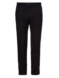 Haider Ackermann Cropped Linen And Cotton Blend Trousers