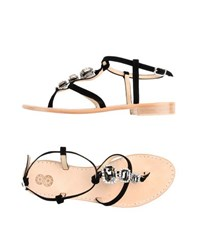8 Footwear Thong Sandals Women Black