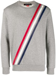 Perfect Moment Striped Long Sleeve Sweater Grey