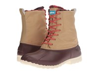 Native Jimmy Winter Crater Brown Tomb Brown Red Plaid Shoes