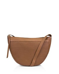 Kooba Curacao Leather Shoulder Bag Honey Gunmetal
