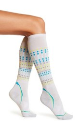 Smartwool Phd Run Dot Calf Socks Metallic