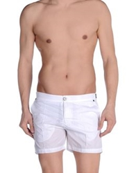 Paolo Pecora Swimming Trunks White