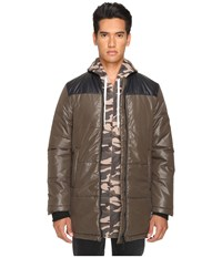 Pyer Moss Down Bomber Army Men's Coat Green