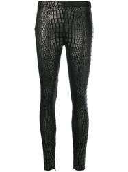 Tom Ford Croc Effect Leggings Black