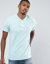 Pull And Bear Pullandbear Short Sleeve Polo In Turquoise Turquoise Blue