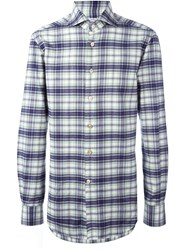 Kiton Checked Shirt Blue