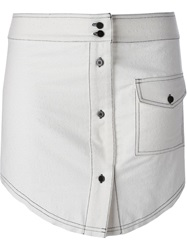 Filles A Papa 'Bird' Skirt White