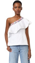 Saloni Esme Top White